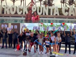 Marcos Rojo, estrella del Manchester United, disfruta del Hard Rock Hotel and Casino Punta Cana, a pesar de informes falsos