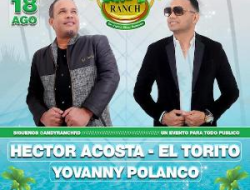 El Torito y Yovanny Polanco en Andy Ranch, domingo 18.
