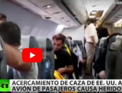 Avión de combate  de EEUU desata el pánico en un avión iraní de pasajeros