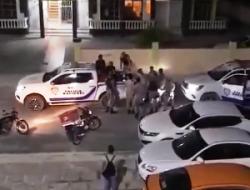 PN aclara repartidor se observa en video forcejeando con agentes estaba en estado de embriaguez