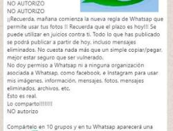 Falso que puedas bloquear los nuevos términos de WhatsApp compartiendo una cadena diez veces