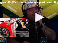 El boricua Molusco demiente  la compra de  Bugatti de El Alfa en Miami» Todo era bulto».