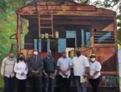 """El Concejo de Desarrollo Ecoturistico de la Provincia Sánchez Ramírez, dejó inaugurado la segunda etapa el parque ecológico el Peñón de Hatillo, El Mural """"el Tren."""