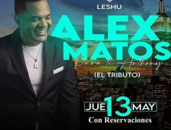"""Una noche de 'teteo romántico', con Alex Matos en el concierto """"Para Ti Anthony""""."""