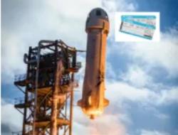 Blue Origin subasta el asiento de su primer vuelo espacial tripulado