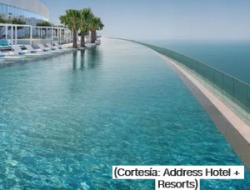 La piscina infinita más alta del mundo fue inaugurada en Dubai