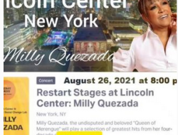 """Lincoln Center Presented in collaboration with NYU Music and Social Change Lab Justly known as """"La Reina del Merengue"""" Milly Quezada"""