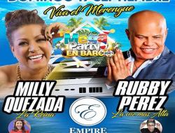 """""""La Reina del Merengue Milly"""" Quezada y """"La Voz Más Alta del Merengue"""" Rubby Pérez a bordo del lujoso """"Empaire Cruises""""."""